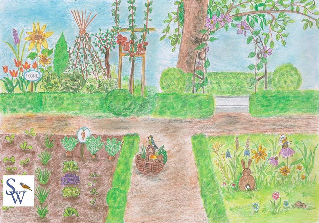 Der Garten von Süßmäulchens Großeltern.
