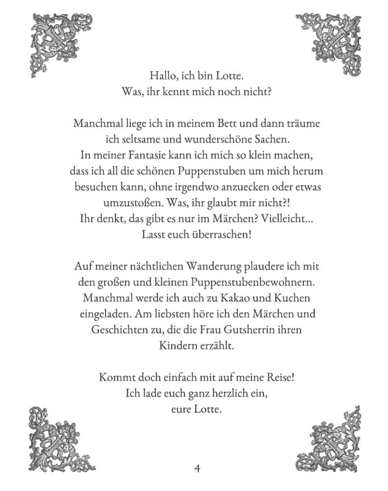 Lottes magische Reise - Kinderbuch von Sylvia Wentzlau -  Seite 4