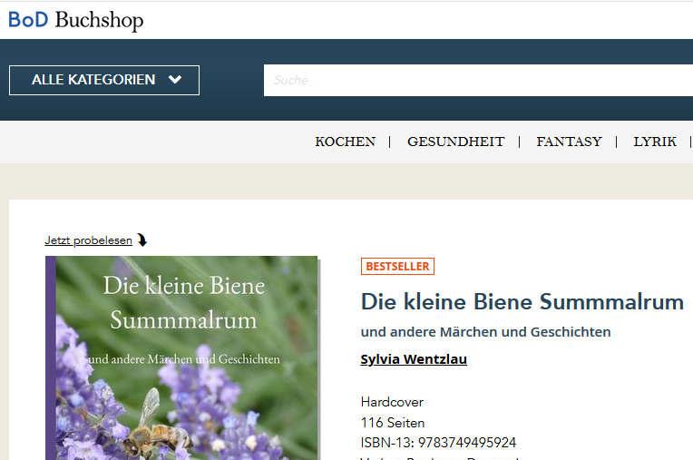 Bestseller bei BoD - Die kleine Biene Summmalrum von Sylvia Wentzlau